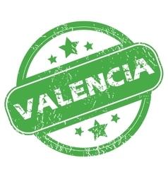 Valencia green stamp vector
