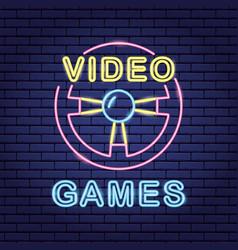 video game neon vector image