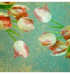 Vintage tulip wallpaper pattern EPS 10 vector image