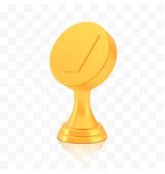 Winner hockey cup award golden trophy logo vector
