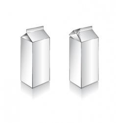 3d white milk box vector image vector image