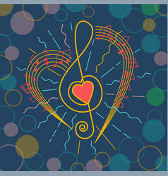 background of musical representation vector image vector image