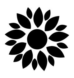 black flower icon vector image vector image