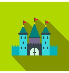 Castle flat icon vector image