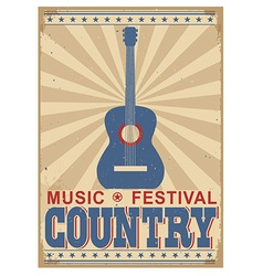 Country music festival background with text vector image