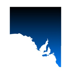 Map of South Australia vector image