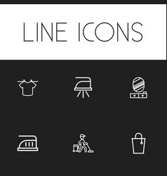 set of 6 editable cleanup icons includes symbols vector image vector image