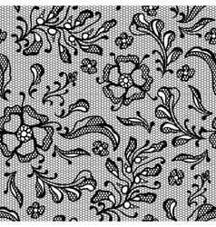 Vintage lace background ornamental flowers texture vector image