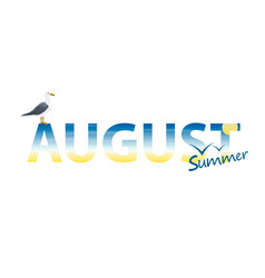 banner year in august vector image