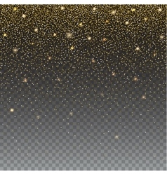 Brilliant golden and sparkling dust particles on vector image vector image