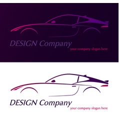 company logo element template violet car vector image vector image