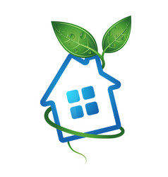Eco home image vector