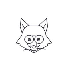 fox head sign line icon sign vector image vector image