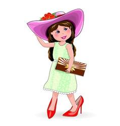 Little fashionista vector
