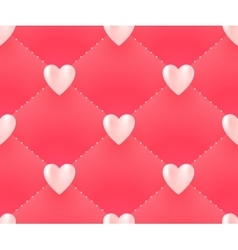 Seamless pattern with white hearts on a pink vector