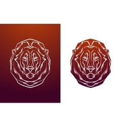 Vintage lion label Retro design graphic vector image vector image