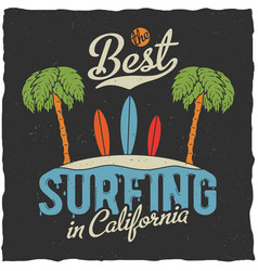 best surfing in california poster vector image