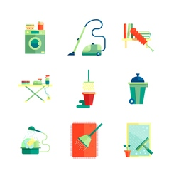Flat housekeeping icons set vector image vector image