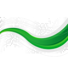 green wave - template vector image vector image