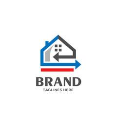 home loan logo real estate logo vector image vector image