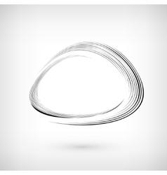 Logo Design Black Grunge Paint Brush Line vector image vector image