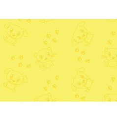 Seamless pattern with cat and dog vector image vector image