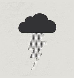 thunderstorm lightning concept vector image vector image