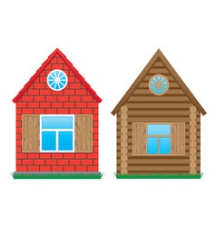 two buildings vector image