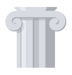 ancient column icon vector image