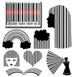 Bar code set vector image vector image