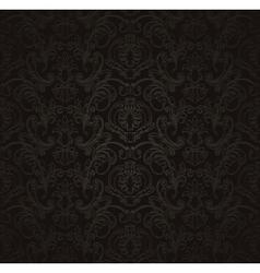 Black Seamless wallpaper pattern vector image vector image