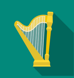 harp icon in flat style isolated on white vector image vector image
