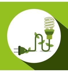 Save Energy icon design vector image