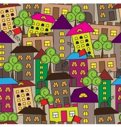 seamless colorful city vector image vector image