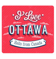 vintage greeting card from ottawa vector image vector image