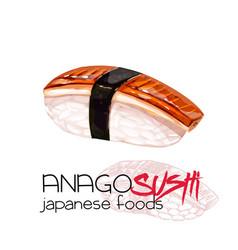 anago sushi vector image
