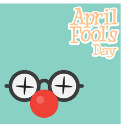 april fools day a funny glasses background vector image