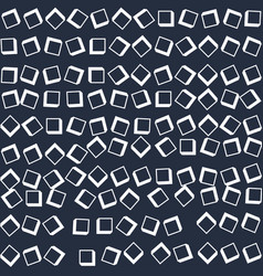 arge white cubes scattered on a dark surface vector image