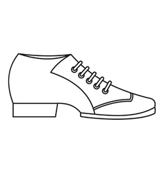 Argentine tango shoe icon outline style vector