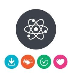 Atom sign icon Atom part symbol vector image