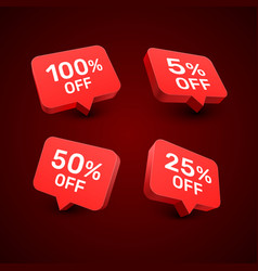 Banner 100 5 50 25 off with share discount vector