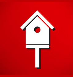 Bird-house icon vector