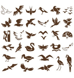 birds icons on white vector image