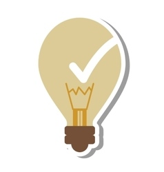 Bulb like good idea isolated icon vector