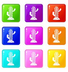 Cactus set 9 vector