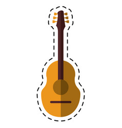 cartoon guitar traditional acoustic music vector image