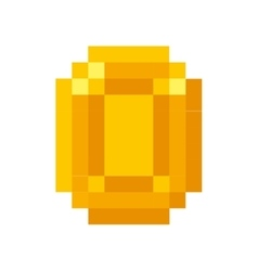 coin gold pixelated icon vector image