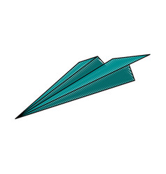 Color blurred stripe airplane of paper toy vector
