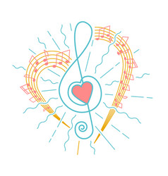 concept of musical representation vector image