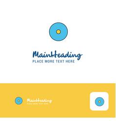 creative cd logo design flat color logo place for vector image